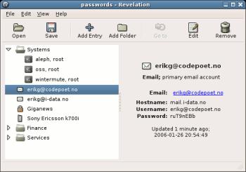 Revelation password manager