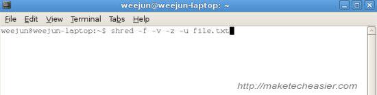ubuntu shred screenshot1