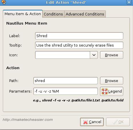 ubuntu shred screenshot3