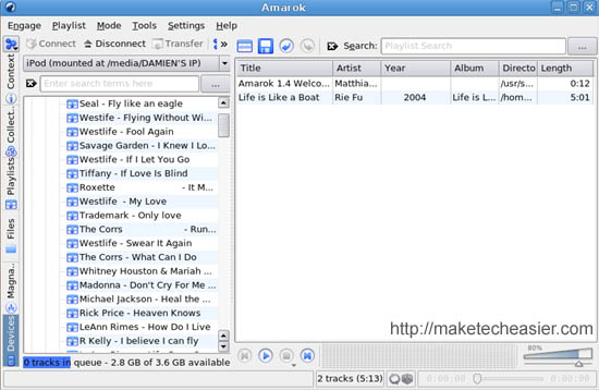 Amarok screenshot
