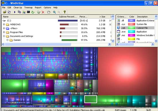 WinDirStat screenshot