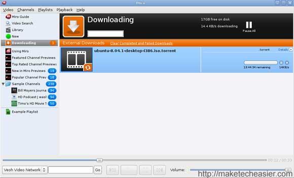 Miro download torrent