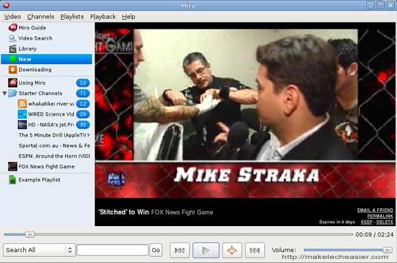 Miro video playback