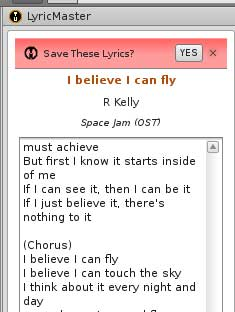 Songbird Lyrics master