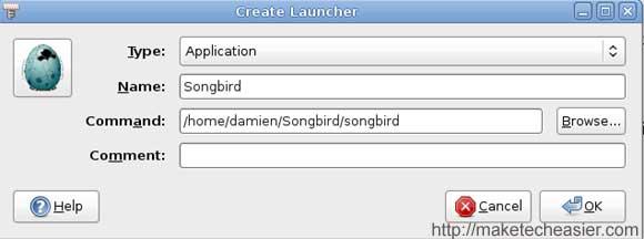 songbird-menu