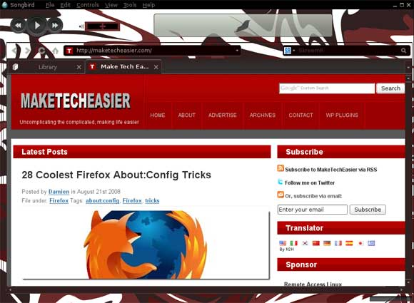 KMSM4 Feather and Web browsing on a new tab
