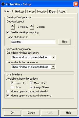 virtuawin-setting