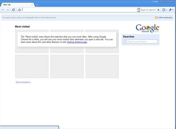 Chrome Home page