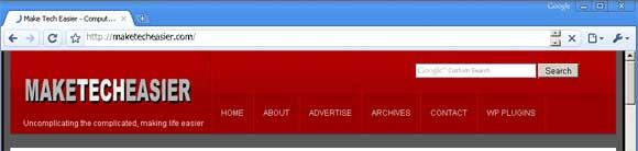 Chrome loading web page