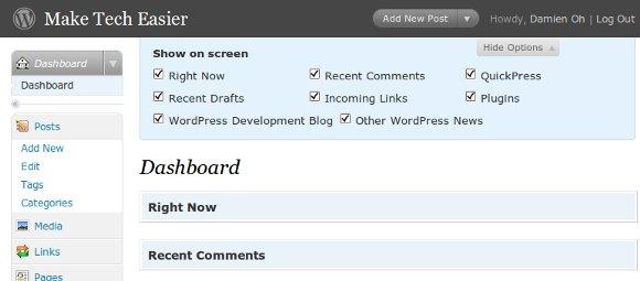 dashboard-open-screen-option
