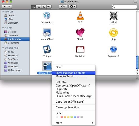 OpenOffice in Mac