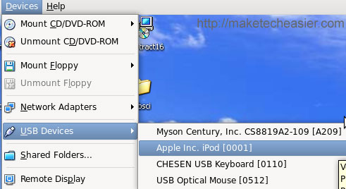 activate-ipod-usb device on WinXP VM