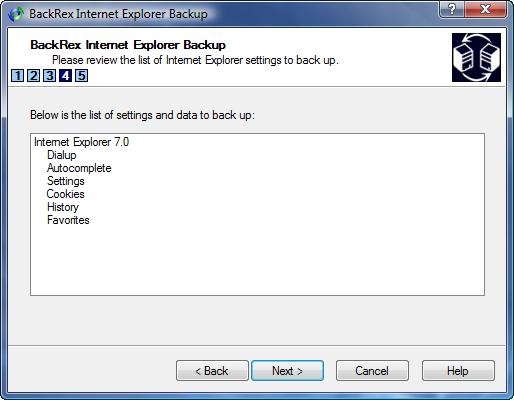 IE Backup List