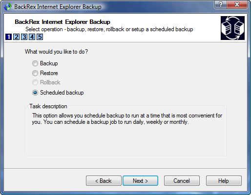 IE Backup Scheduled Backup