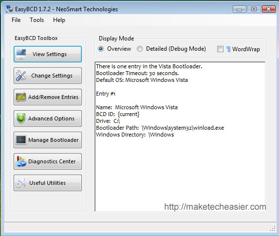 Easybcd windows xp 64