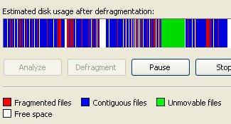 Windows Default defrag tool