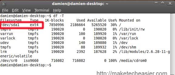 check filesystem type
