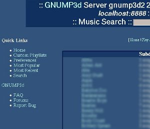 Screenshot of gnump3d