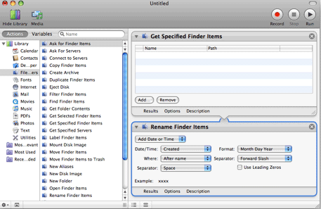 One potential workflow in Automator to batch rename files.