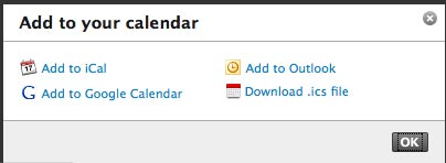calendar export last.fm