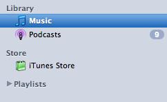 Modified iTunes Sidebar