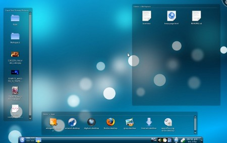 Folderview on KDE desktop