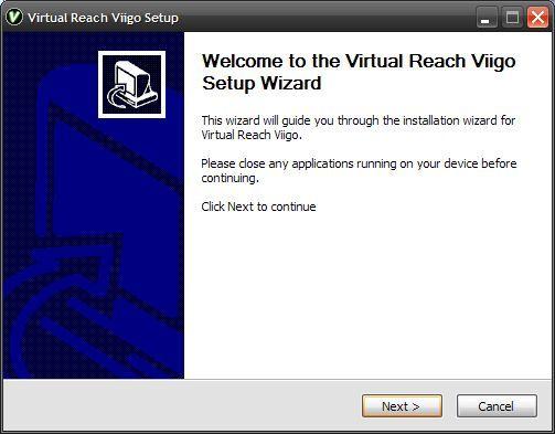Installing Viigo via Activesync - desktop installation screen