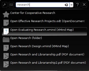 Krunner desktop search