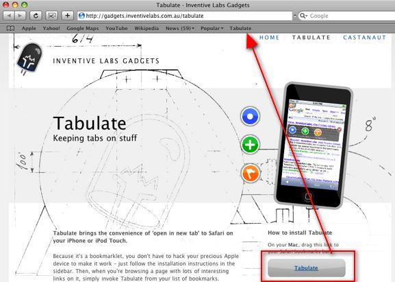 tabulate-bookmarklet