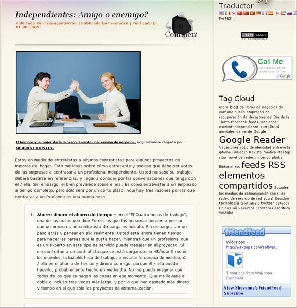 globaltranslator-translation to spanish