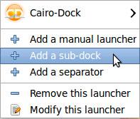 Cairo dock - add a sub dock