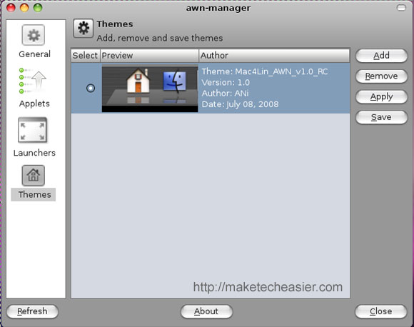 Applying Mac4lin AWN theme