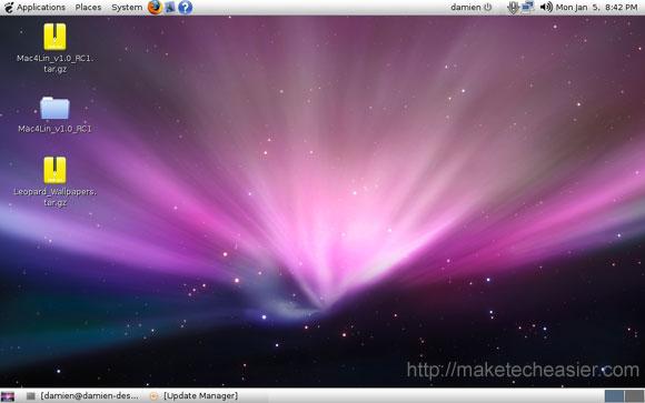 mac4lin initial desktop
