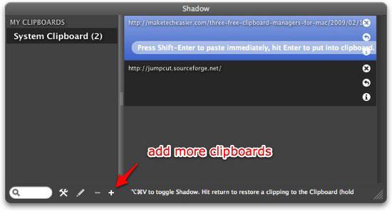 shadow add more clipboard