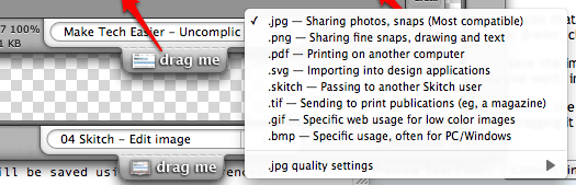 Skitch - Name and Image Format