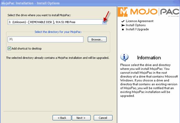 mojopack-install-location-select