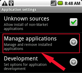 android-manage-applications