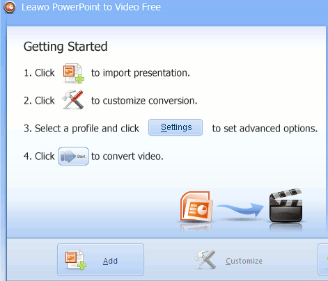 Convert Powerpoint presentation into Video with Leawo video convertor