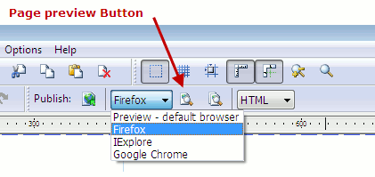 Preview your page in browser