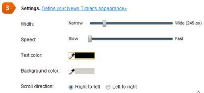 conduit-define-news-ticker-properties