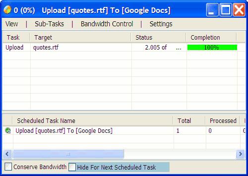 gladinet-desktop-upload