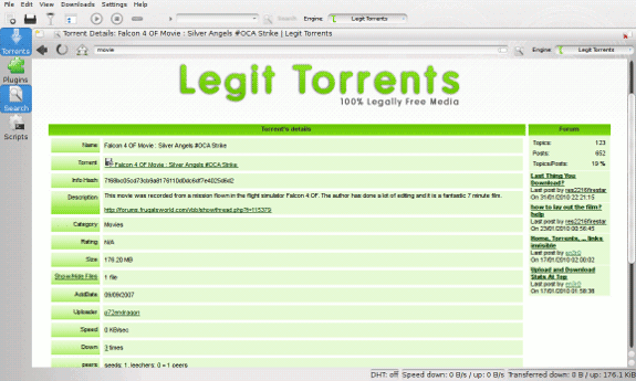 ktorrent searching for torrents