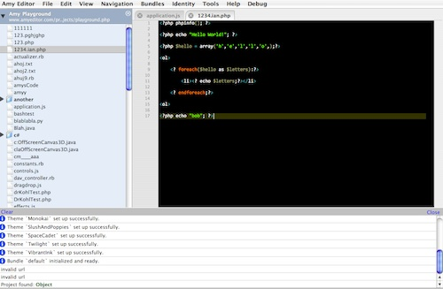 Amy Editor - Online Code Editor