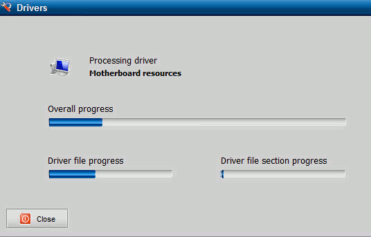 Exporting the installed drivers and creating a backup folder