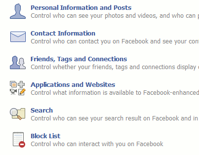 Facebook - Privacy Settings