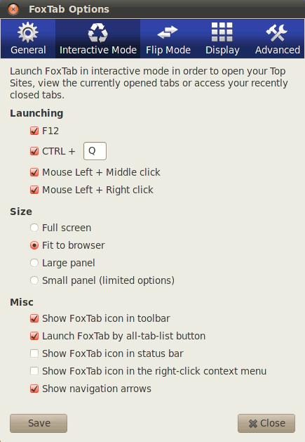 foxtab-options