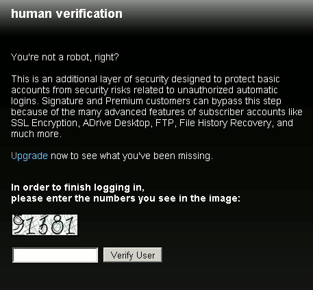 online-storage-adrive-human-check
