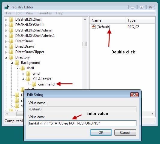 Enter value of registry Key