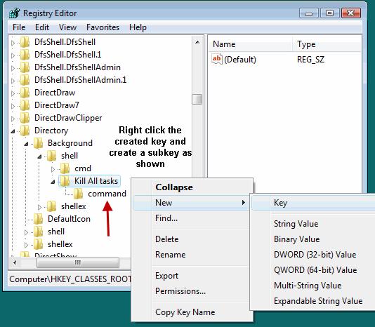 Create Subkey of a registry Key