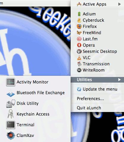 alaunch - dropdown menu